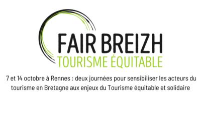 CP – 7 et 14 octobre à Rennes : deux ateliers d'expertise sur le tourisme équitable